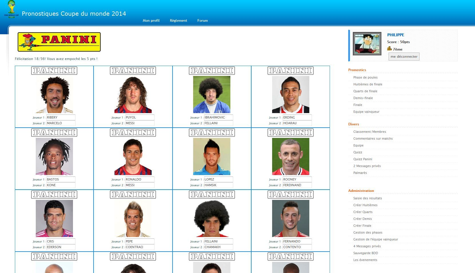 Pronostics WorldCup 2014